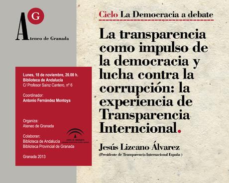 Jesús Lizcano Álvarez, Presidente de Transparencia Internacional España
