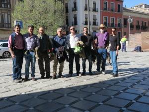2017-03-31 Celia, Juan Hueto, Fran, Juan Raya, Narciso, Miguel, Antonio Castillo y Antonio Martín