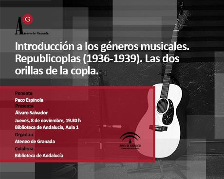 Introducción a los géneros musicales. Republicoplas  (1936-1939). Las dos orillas de la copla.