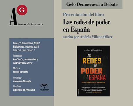 """La democracia a debate. Presentación libro """"El poder en España"""" de Andrés Villena"""