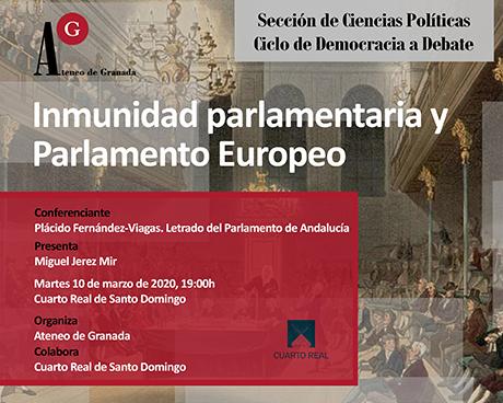 Inmunidad parlamentaria y Parlamento Europeo
