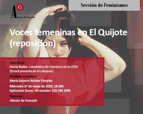 Voces femeninas en El Quijote (reposición)