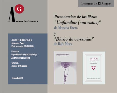 Presentación de los libros de poemas «Unifamiiar con vistas» de Moncho Otero y «Diario de cercanías» de Rafa Mora.