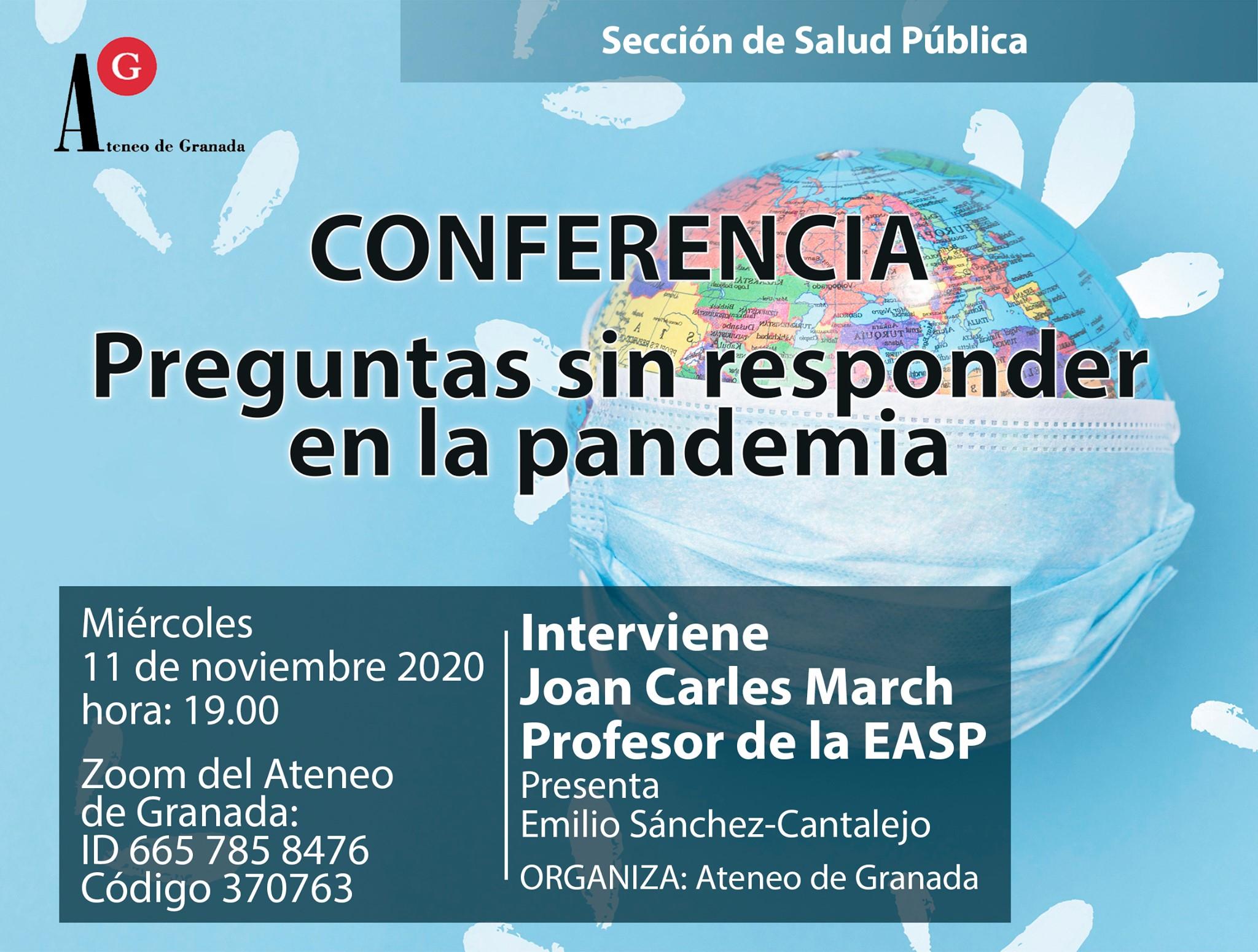 Conferencia: Preguntas sin Responder en la Pandemia