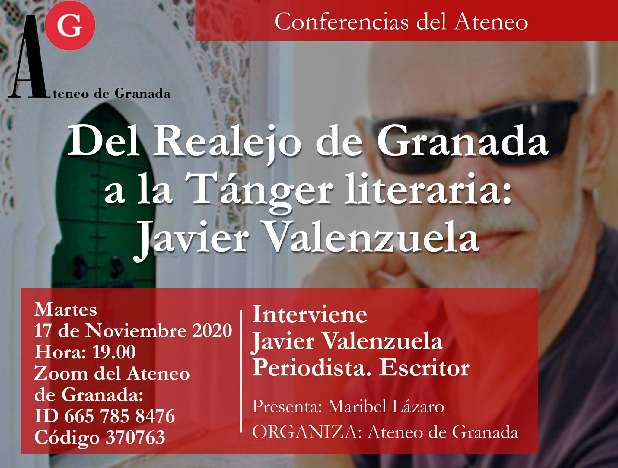 Conferencia: Del Realejo de Granada a la Tánger Literaria. Javier Valenzuela