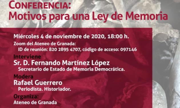 Conferencia Ateneo de Granada: Motivos para una Ley de Memoria