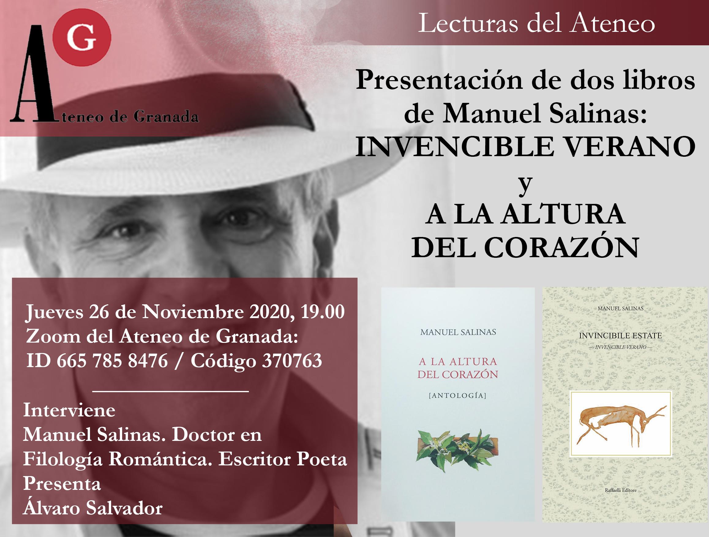 Presentación de dos libros Manuel Salinas: Invencible Verano y A la Altura del Corazón