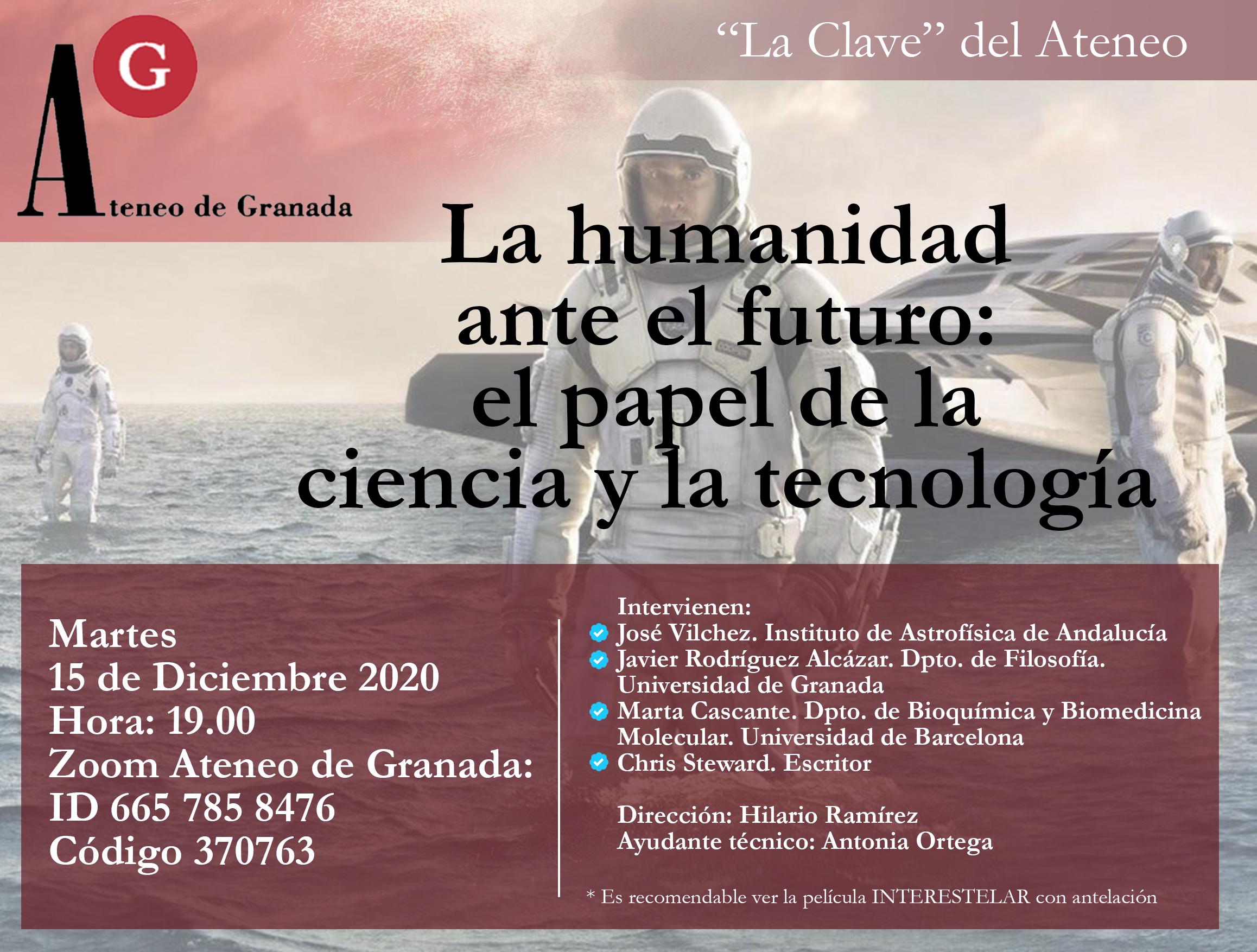 La Clave del Ateneo | Interestelar. La humanidad ante el futuro. El papel de la ciencia y tecnología