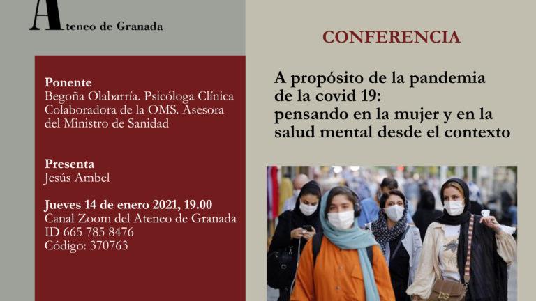 Conferencia El Ateneo | A propósito de la pandemia de la covid 19: pensando en la mujer y en la salud mental desde el contexto