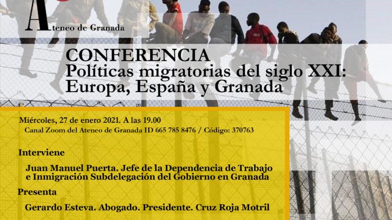 Conferencias El Ateneo | Políticas migratorias del siglo XXI: Europa, España y Granada