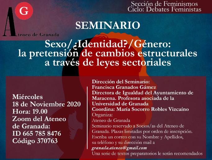 Conferencia el Ateneo | Seminario Sexo/¿Identidad?/Género