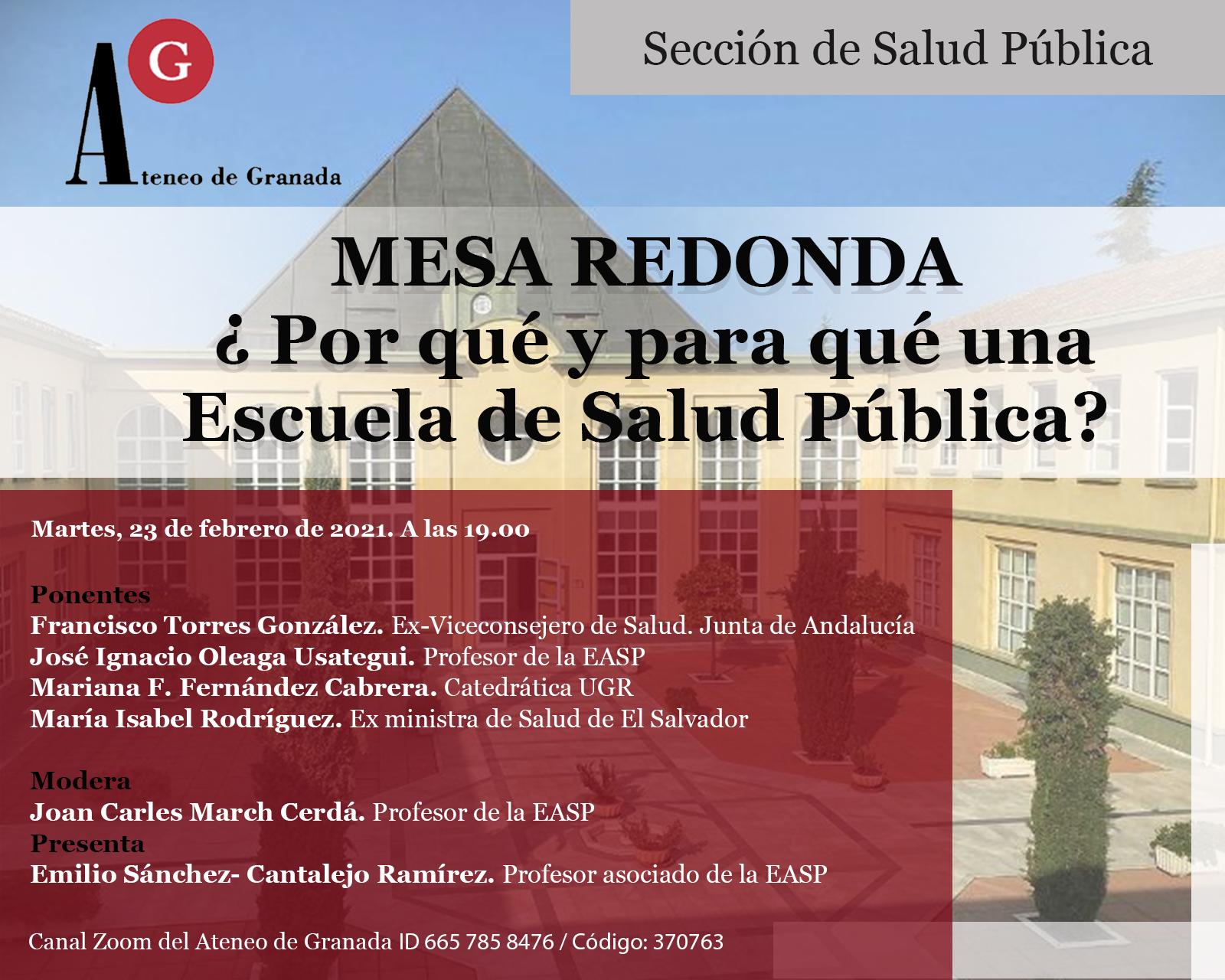 Mesa Redonda | ¿Por qué y para qué una Escuela de Salud Pública?