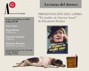 Presentación del libro: El retablo de Salomé Amat