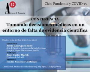 Conferencia El Ateneo | Tomando decisiones médicas en un entorno de falta de evidencia científica