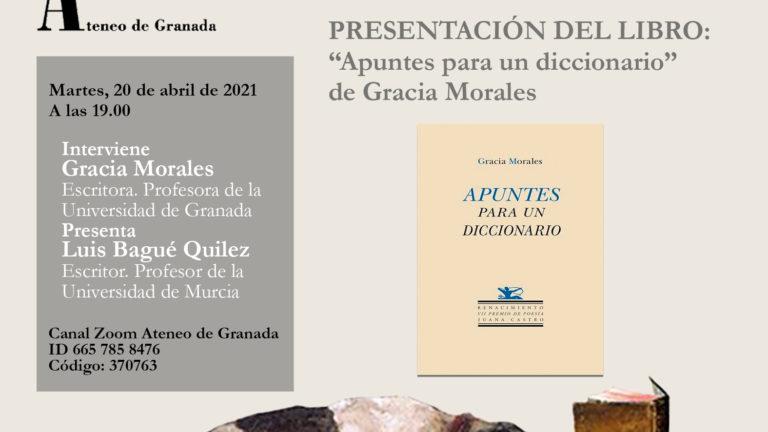 Presentación del libro Apuntes para un diccionario de Gracia Morales