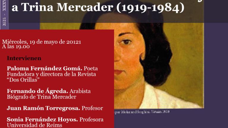 Mesa Redonda: La revista «Dos Orillas» homenajea a Trina Mercader (1919-1984)