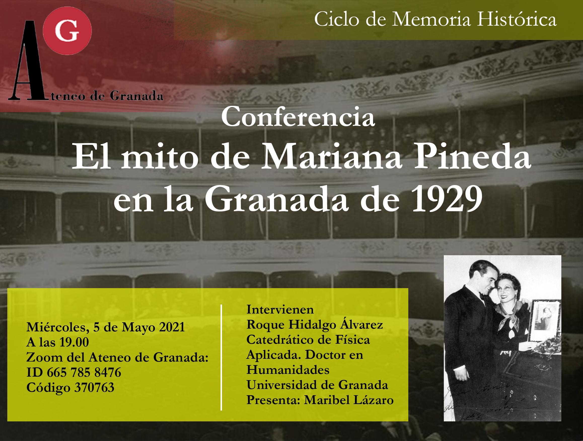 Conferencia El Ateneo | El mito de Mariana Pineda en la Granada de 1929