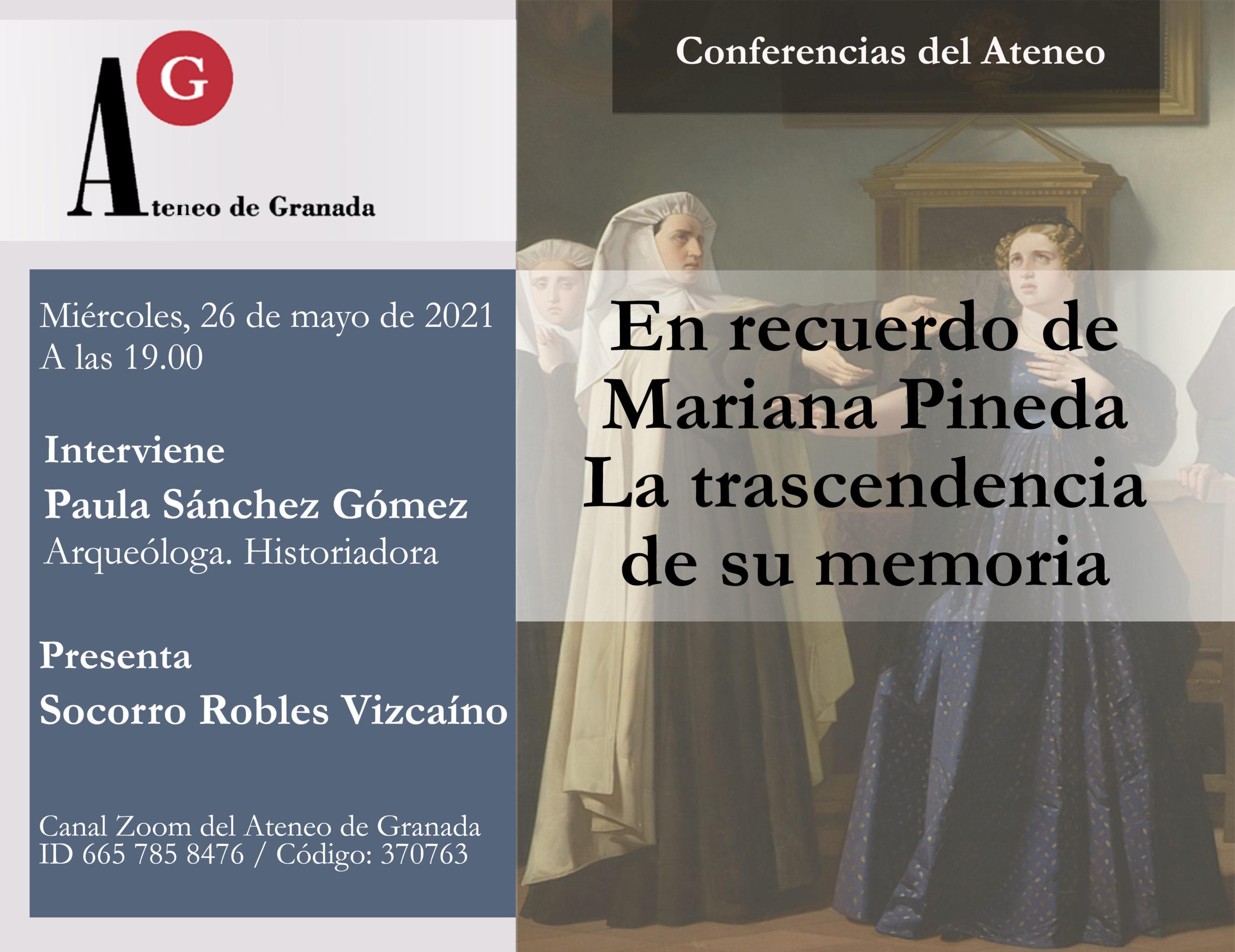 Conferencia El Ateneo | En recuerdo de Mariana Pineda. La trascendencia de su memoria
