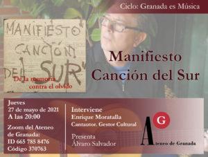 Conferencia El Ateneo | Granada es música. Manifiesto Canción del Sur